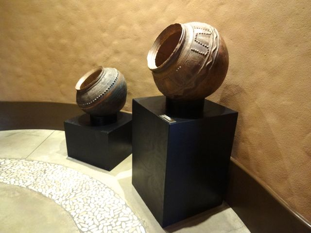 Two large, and beautiful, clay pots - these have many uses... water storage, cooking, and beer fermentation