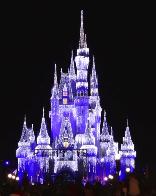 Cinderella Castle Dream Lights at Magic Kingdom in Walt Disney World 2012 - 2