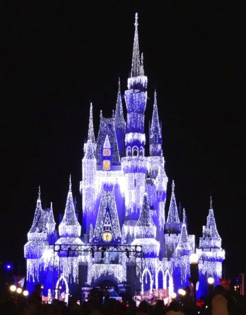 Cinderella Castle Dream Lights at Magic Kingdom in Walt Disney ...