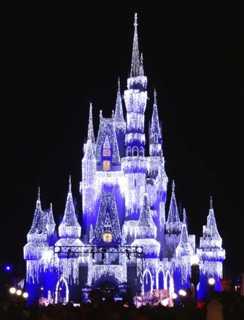 Cinderella Castle Dream Lights at Magic Kingdom in Walt Disney World 2012 - 4