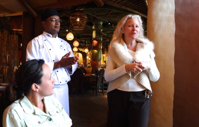 Yaraila, our animal specialist; David Njorge, head chef at Sanaa; and Stephanie Galvanga, manager at Sanaa