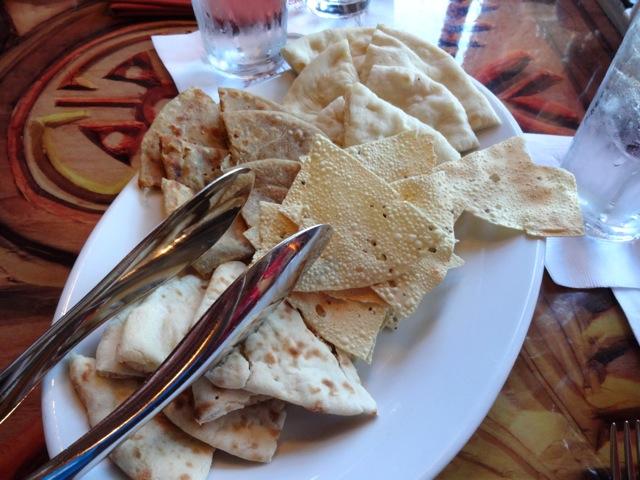 Bread Service: naan,