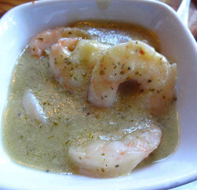 Green Curry Shrimp (not very spicy or even very flavorful)