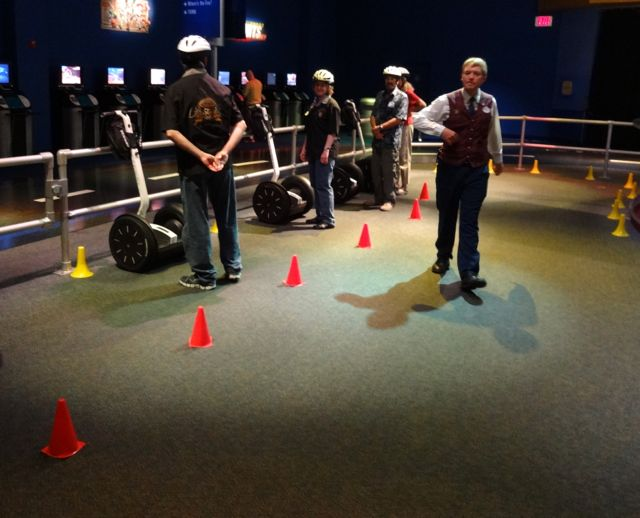 Cone Slalom - another step in the training, learning maneuverability