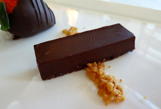 Dark Valrhona Chocolate with Hazelnut Crumble