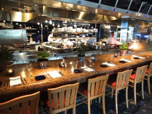 Dining area at the open kitchen