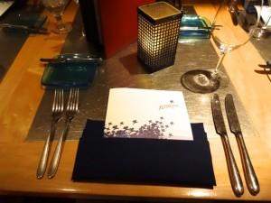 Our table setting at Flying Fish