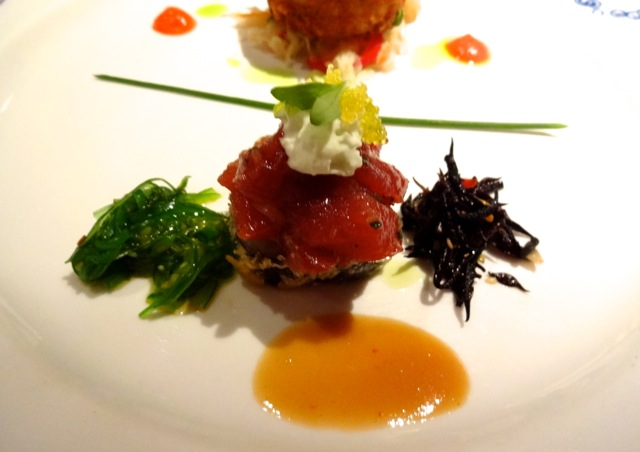 The yellowfin tuna appetizer