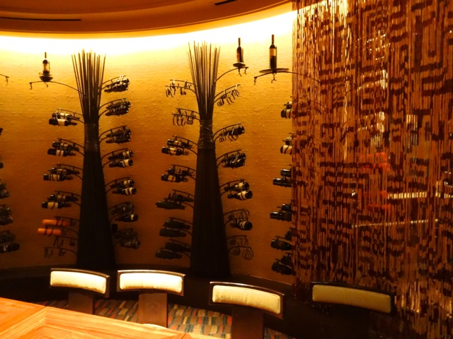 """Wine """"trees"""" in the Wine Room at Jiko"""