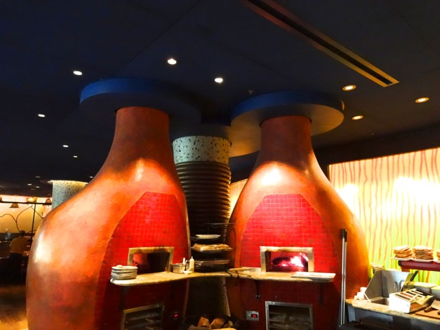 Two ovens, surmounted on the ceiling by a Hidden Mickey