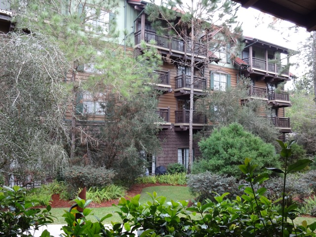 Wilderness Lodge Villas (a DVC Resort) - the exterior is evocative of 1870's railroad style hotels, there are three different exteriors (shingle, clapboard, and board & batten)