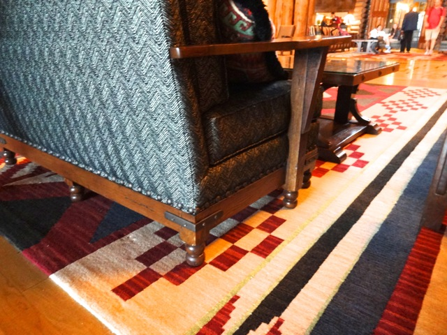 The furniture in the Wilderness Lodge Lobby is real Stickley furnishings!