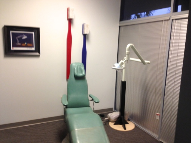 Dentist chair - this area wasn't anyone's office, it was the lobby for the facility