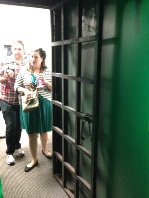 The 3rd office also had a themed door ... this one looks like a jail cell door...