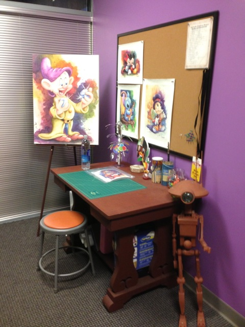 ... Michelle is a painter and this is one of her work areas...