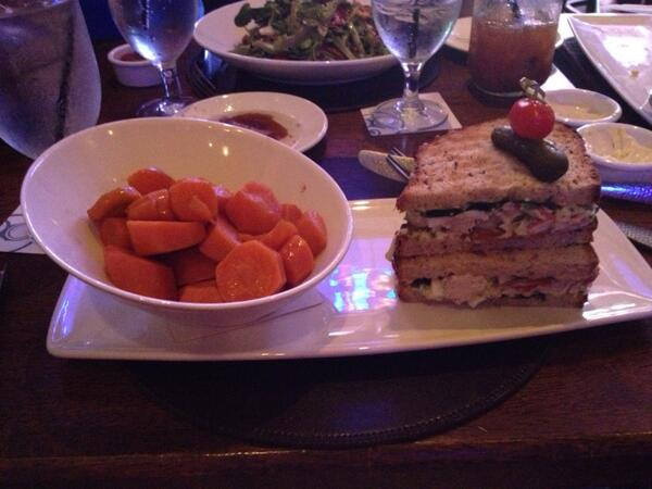 Lunch at Raglan Road earlier this week -- Sweet & Sour Carrots and a Lobster Club Sandwich - reviews on twitter @extrawdwmagic