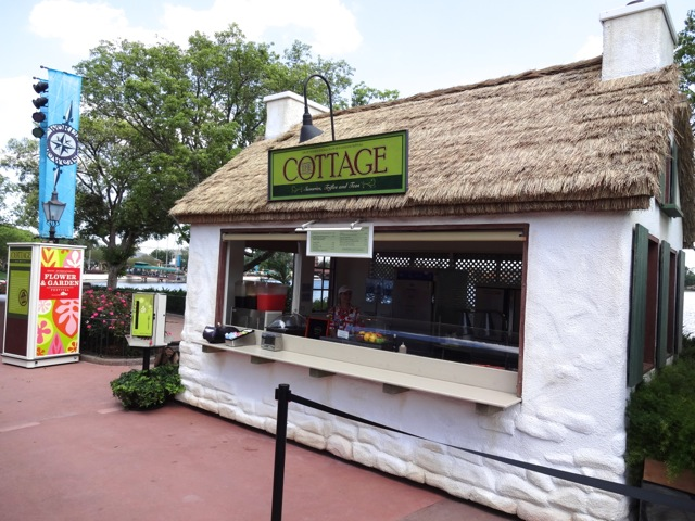 The Cottage booth, located between Canada and the UK Pavilions