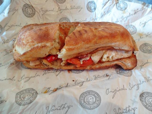 Caribbean Jerk Chicken sandwich - Earl of Sandwich