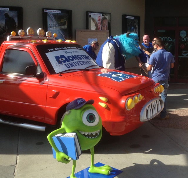 Monster's University Opening day at Downtown Disney - Sulley is brought out of his crate - 2