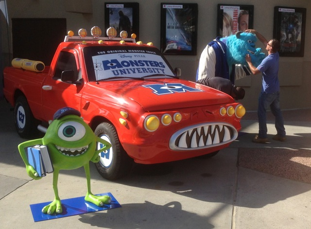 Monster's University Opening day at Downtown Disney - Sulley is brought out of his crate - 3