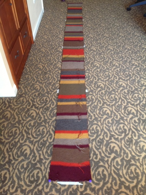 """Dr Who Scarf... 11"""" wide and 12' long"""