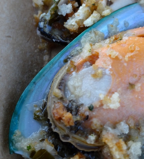 New Zealand - Green Lip Mussels - showing you the green