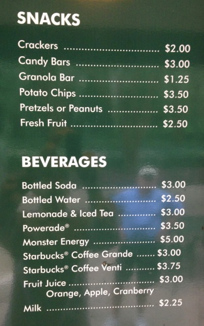 Chips and Slices Snack Bar menu - Lake Buena Vista Golf Course - 5