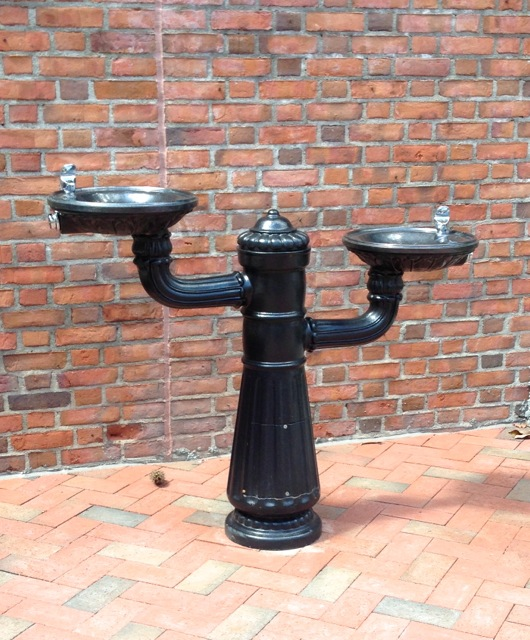 Nick took a photo of one of the two new water fountains. They really reminded us of something we'd see in a southern city.