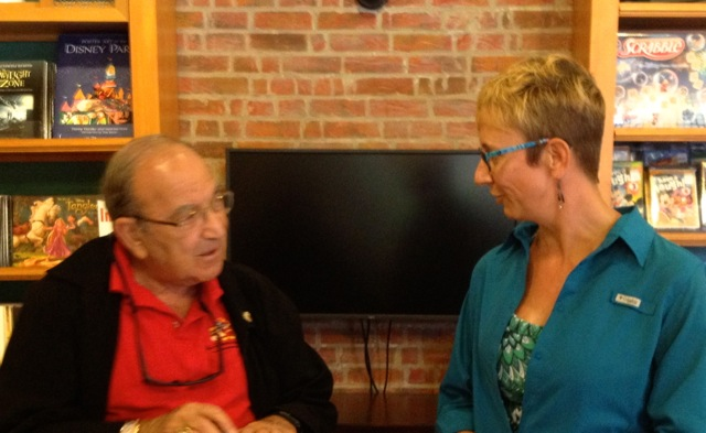 I'm telling Marty Sklar that Walt Disney World is a very special place for us, and I'm telling him that I have many friends because of his creations.
