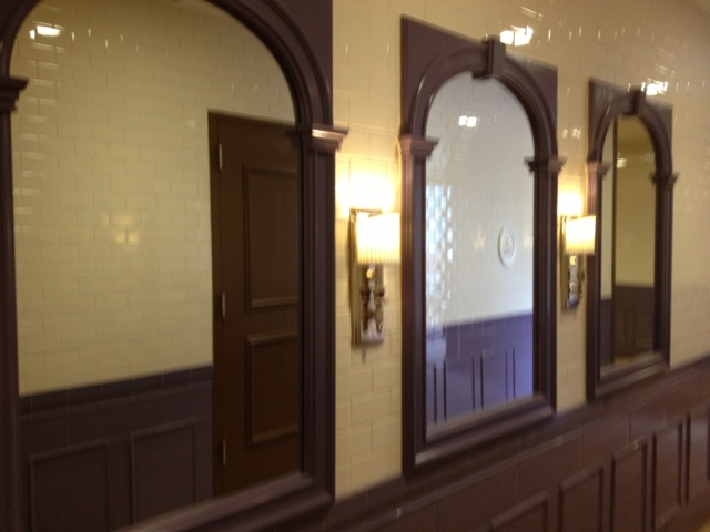 Another blurry photo from nora... These are the mirrors in the ladies room that mirror the mirrors in the men's room.