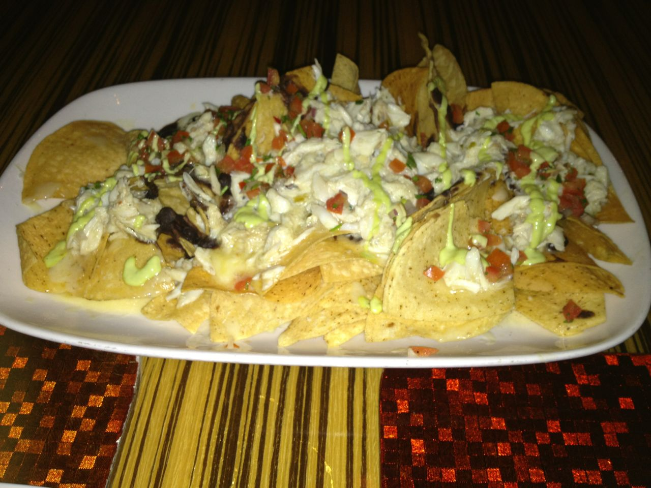 another photo of crab nachos from bluezoo bar snacks menu