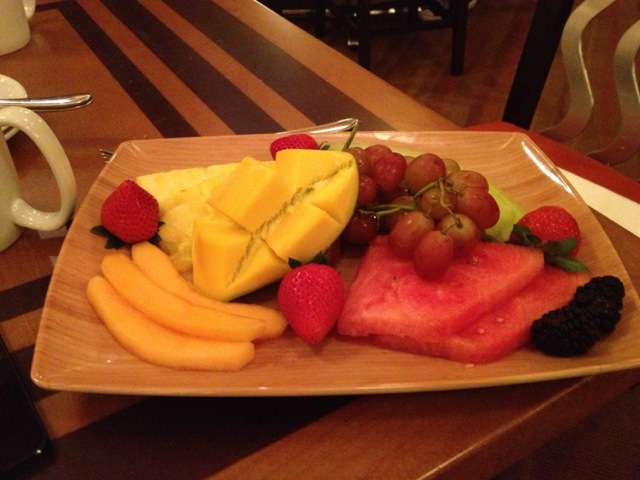 Ashley brought us a fruit plate because we were celebrating a healthy goal :)