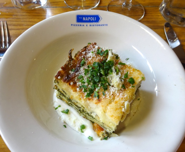 Lasagna Verde con Verdure (Wood fired vegetable lasagna)