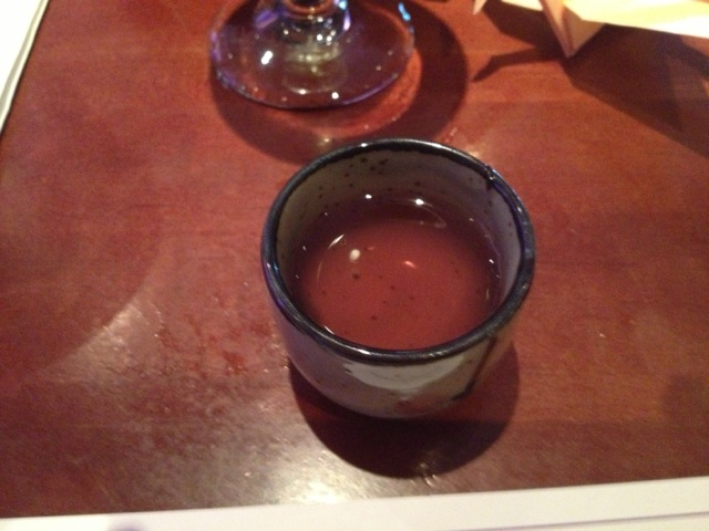 this sake was intriguing because it was so different, I liked it a bit because it was slightly reminiscent of hisui (red yeast sake)