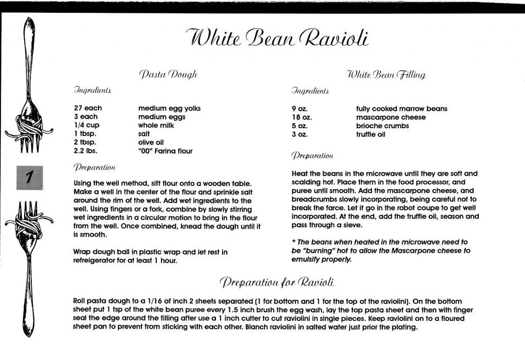 White Bean Ravioli