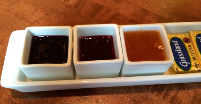 housemade jam - mixed berry, strawberry, and peach