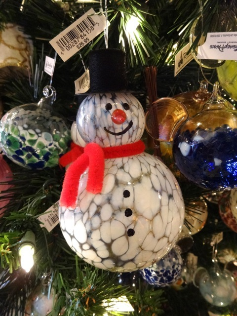 blown glass snowman (I believe these are made in the Germany Pavilion)
