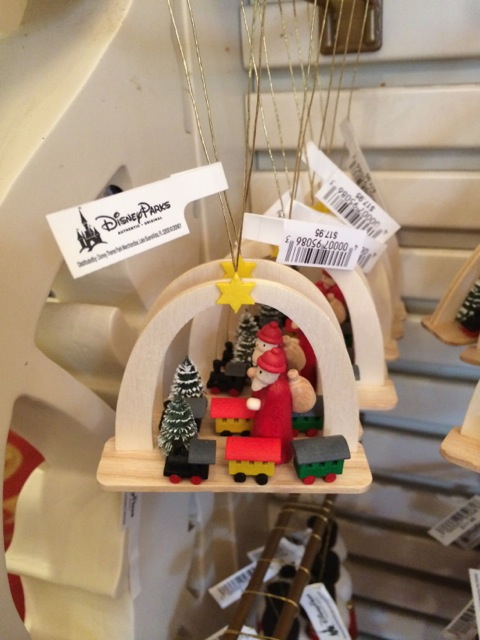 small wooden Santa scene
