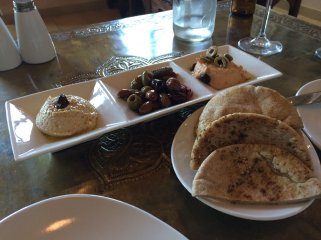Hummus and Olives at #spiceroadtable #morocco #epcot 15MAR14 - 1
