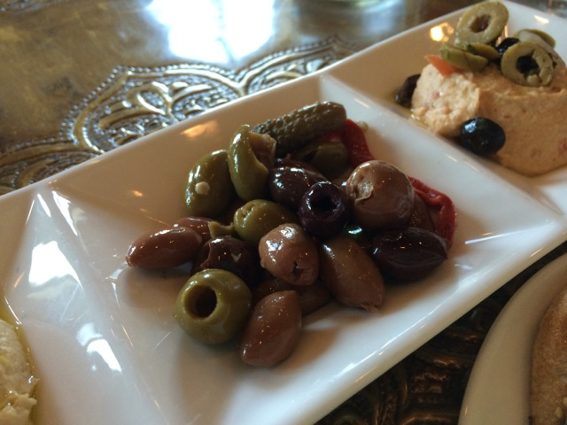 Hummus and Olives at #spiceroadtable #morocco #epcot 15MAR14 - 3
