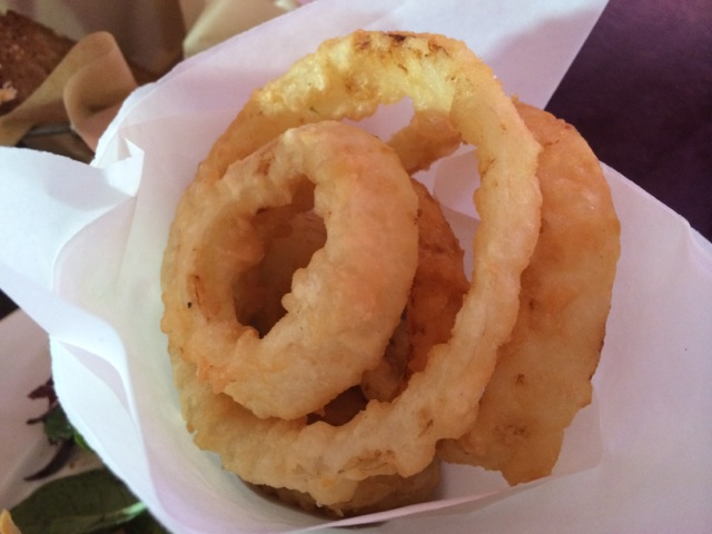 Lunch #raglanroadpub 03APR2014 #onionrings