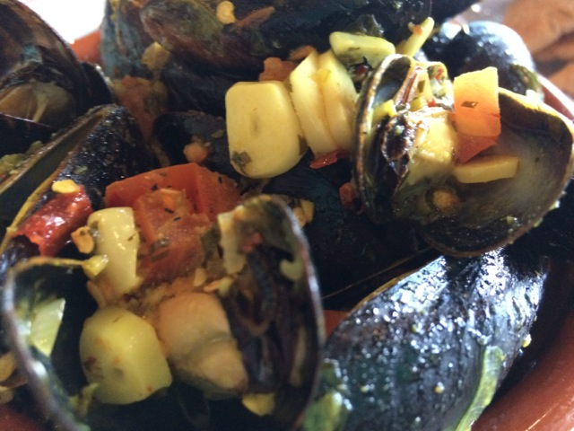 Mussels Tagine more spicy at #spiceroadtable #morocco #epcot 15MAR14 - 02