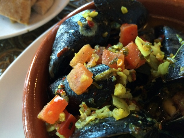 Mussels Tagine more spicy at #spiceroadtable #morocco #epcot 15MAR14 - 07