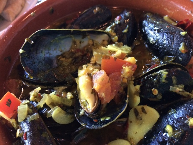 Mussels Tagine more spicy at #spiceroadtable #morocco #epcot 15MAR14 - 08