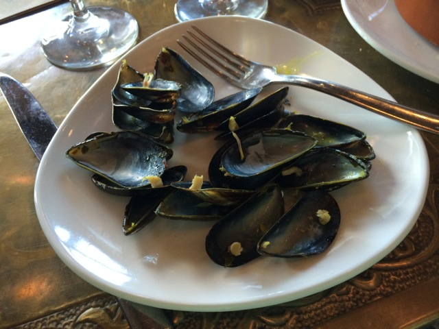 Mussels Tagine more spicy at #spiceroadtable #morocco #epcot 15MAR14 - 11