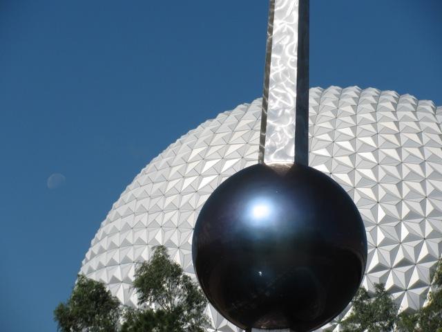 Moon, Spaceship Earth, Sculpture