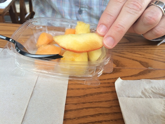 "each of our fruit cups contained some fruit that was ""past it"""