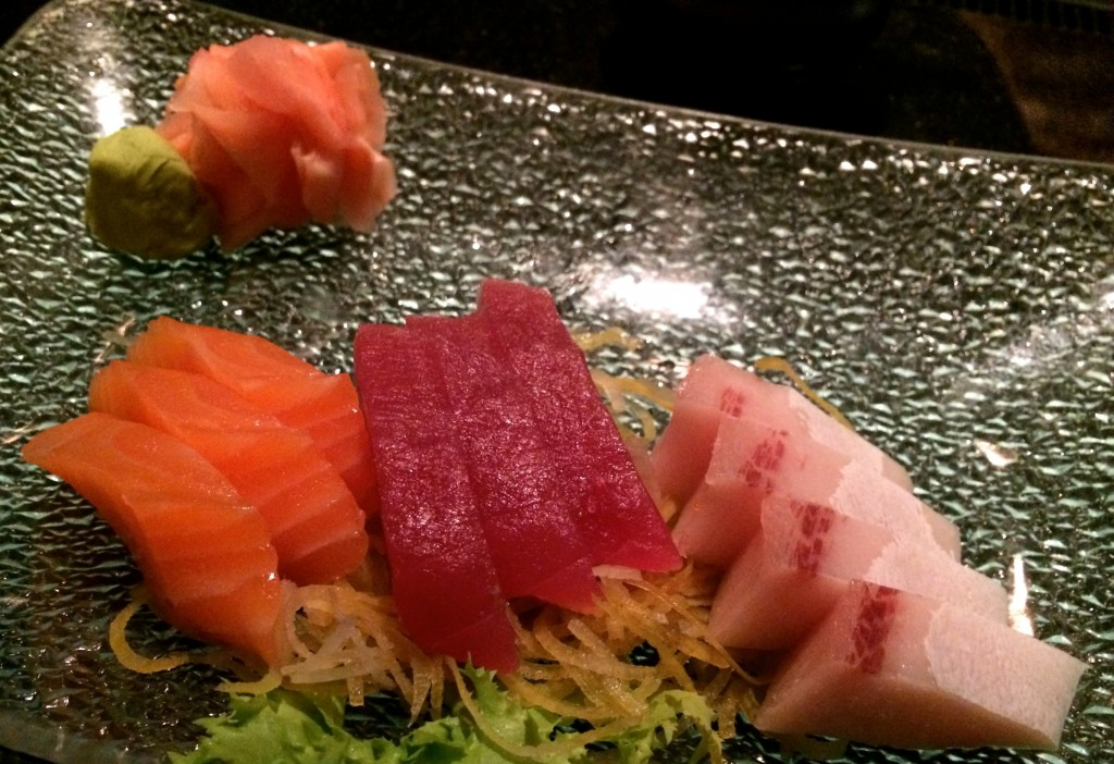 beautifully presented sashimi