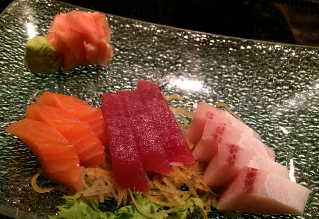 beautifully presented sashimi