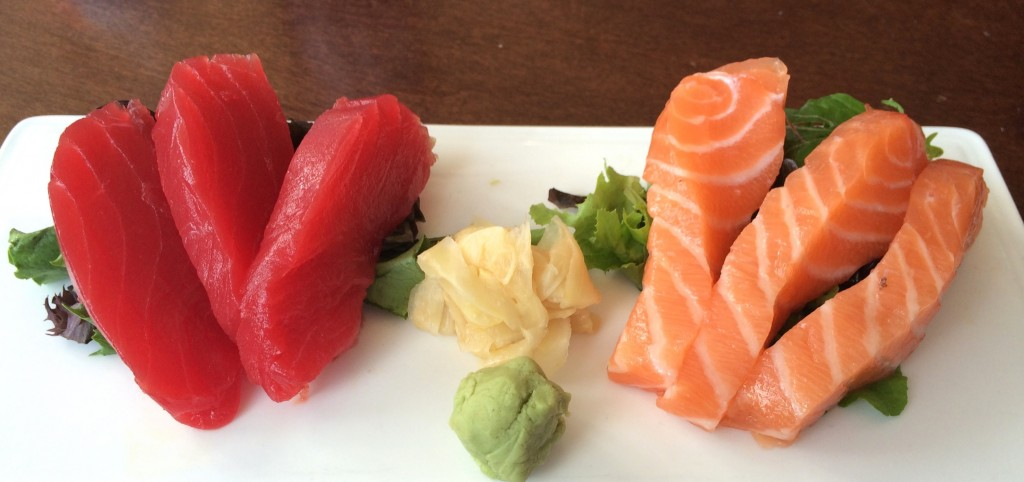 sashimi at Splitsville